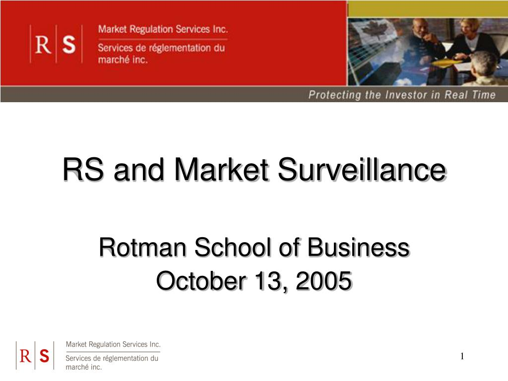 RS and Market Surveillance