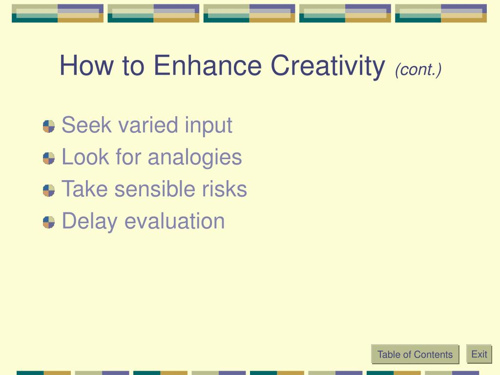 How to Enhance Creativity