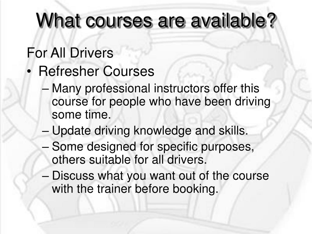 What courses are available?