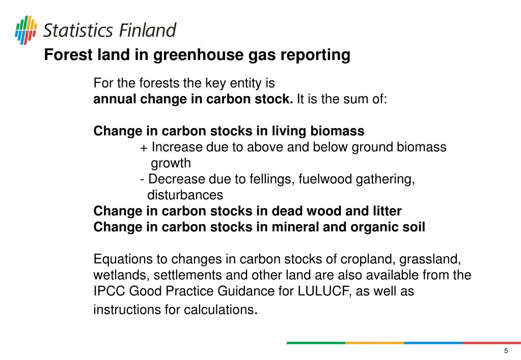 Forest land in greenhouse gas reporting