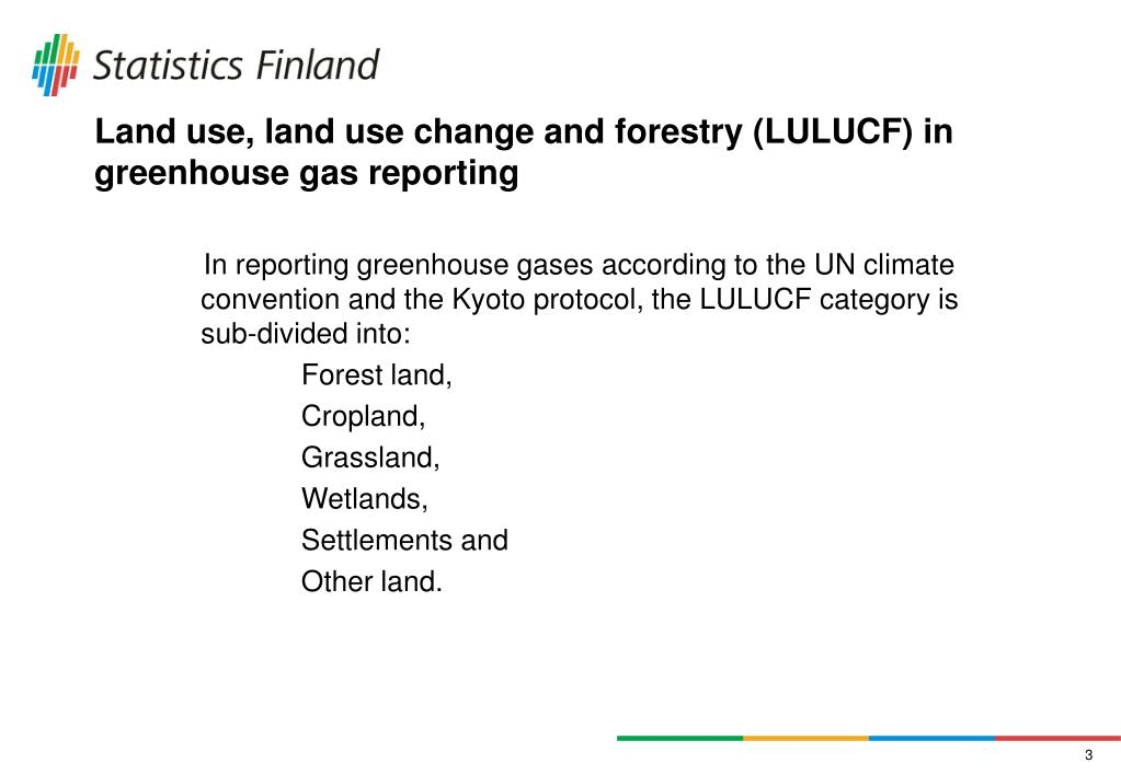 Land use, land use change and forestry (LULUCF) in greenhouse gas reporting