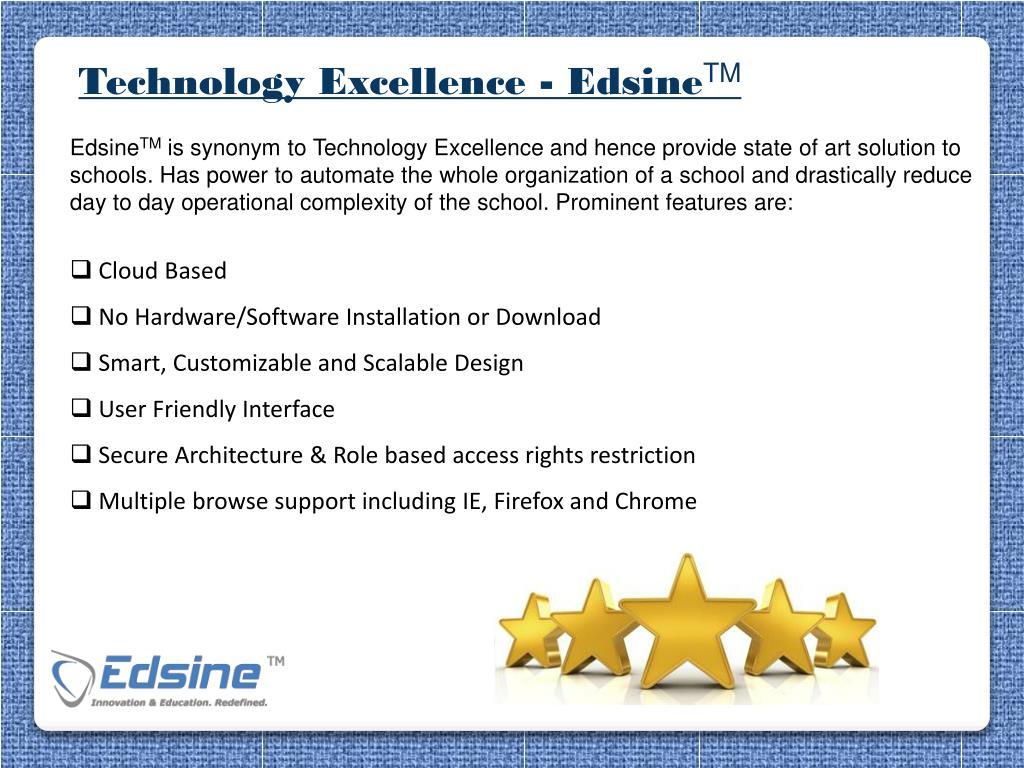 Technology Excellence - Edsine