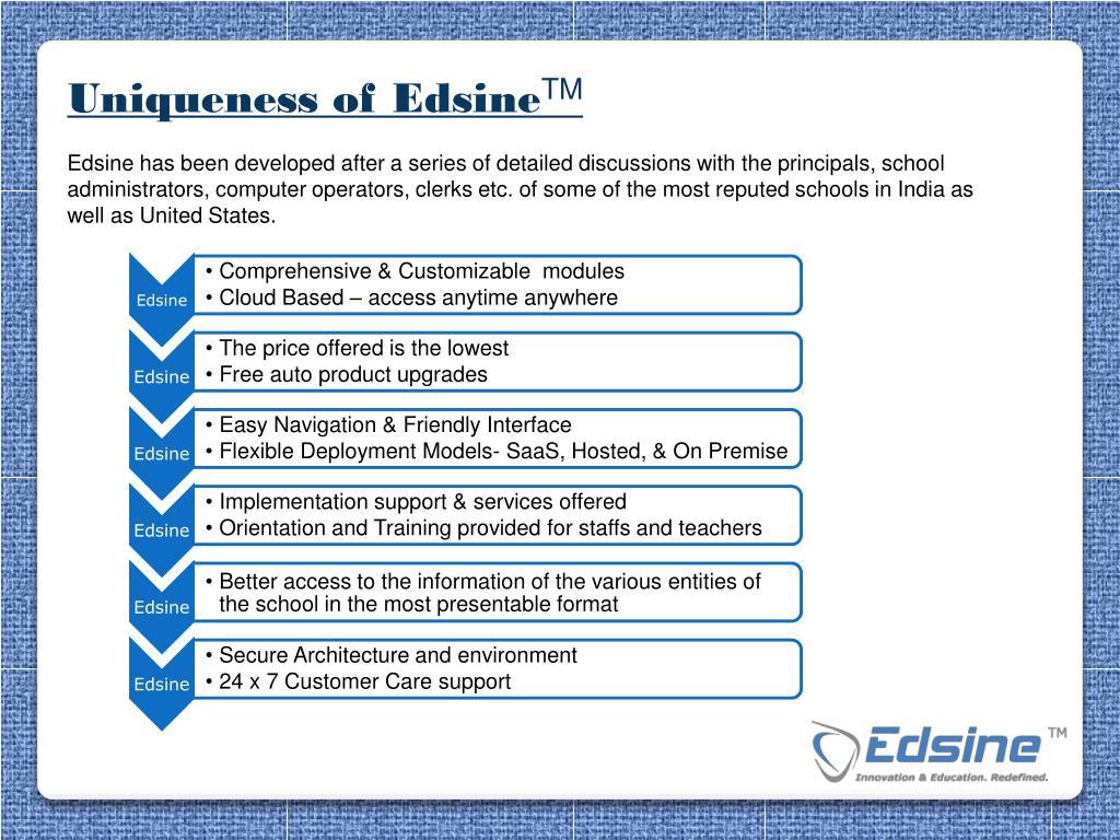 Uniqueness of Edsine