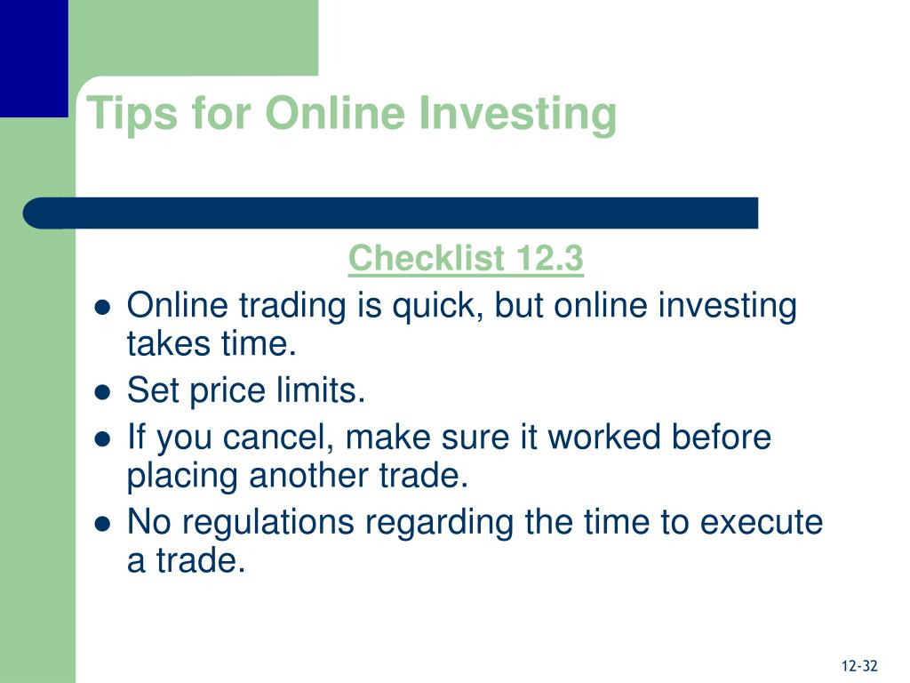 Tips for Online Investing