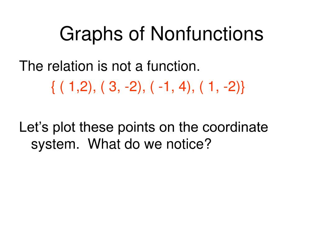 Graphs of Nonfunctions