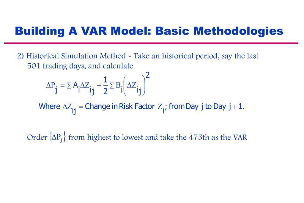 Building A VAR Model: Basic Methodologies