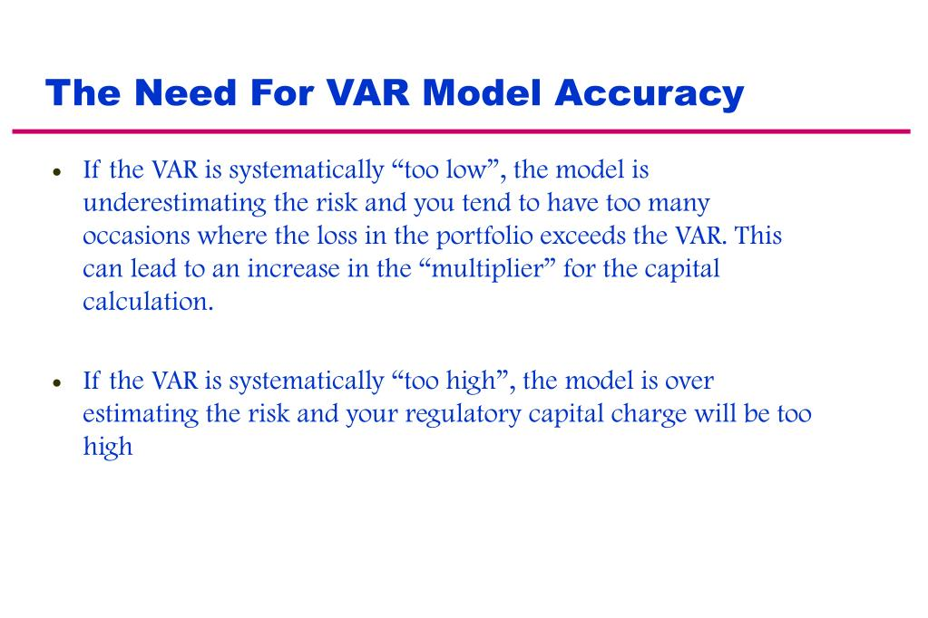 The Need For VAR Model Accuracy