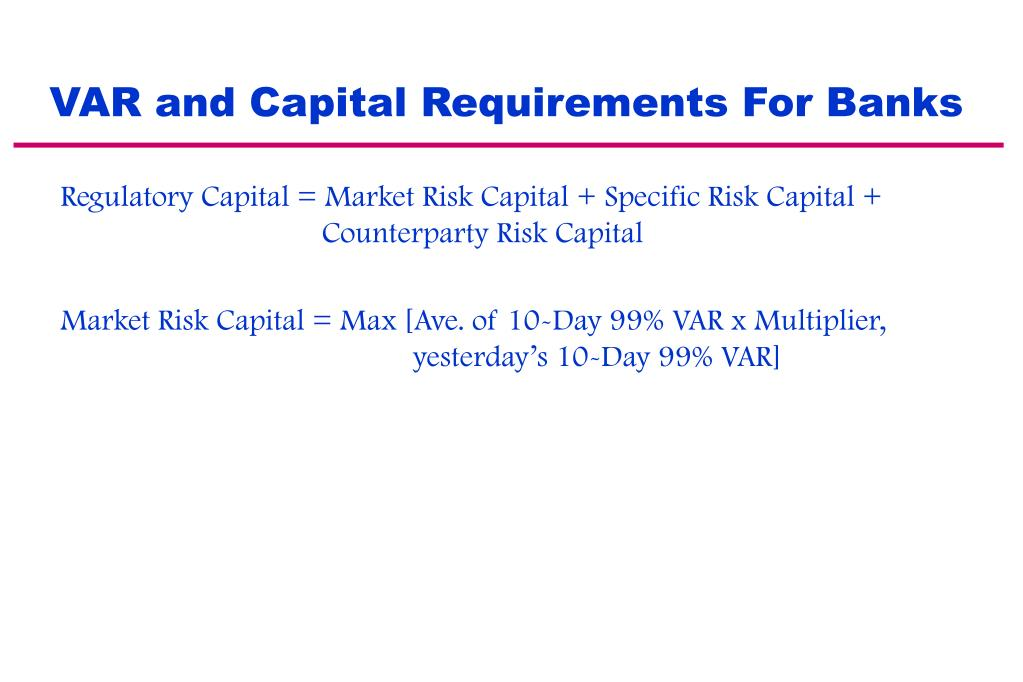 VAR and Capital Requirements For Banks