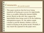 comments the probit model