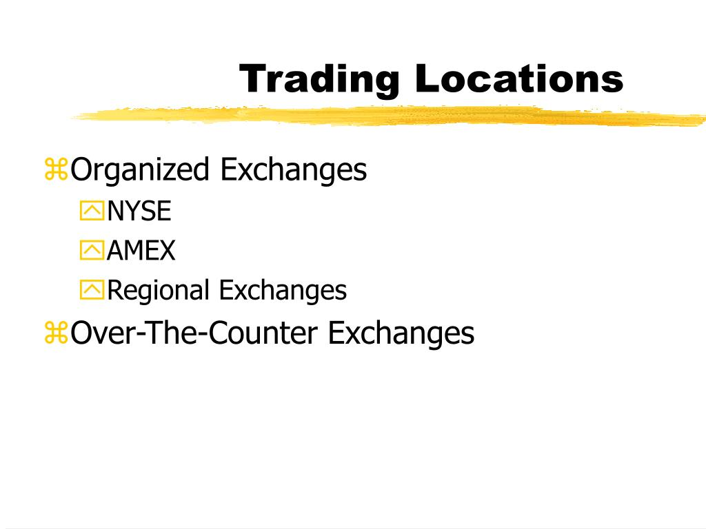 Trading Locations
