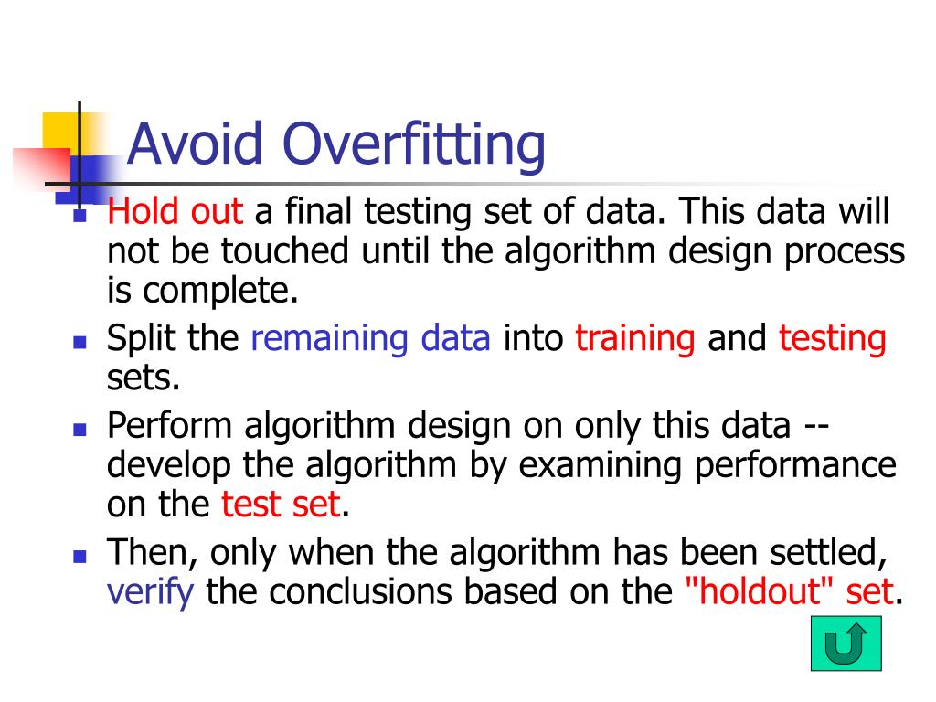 Avoid Overfitting