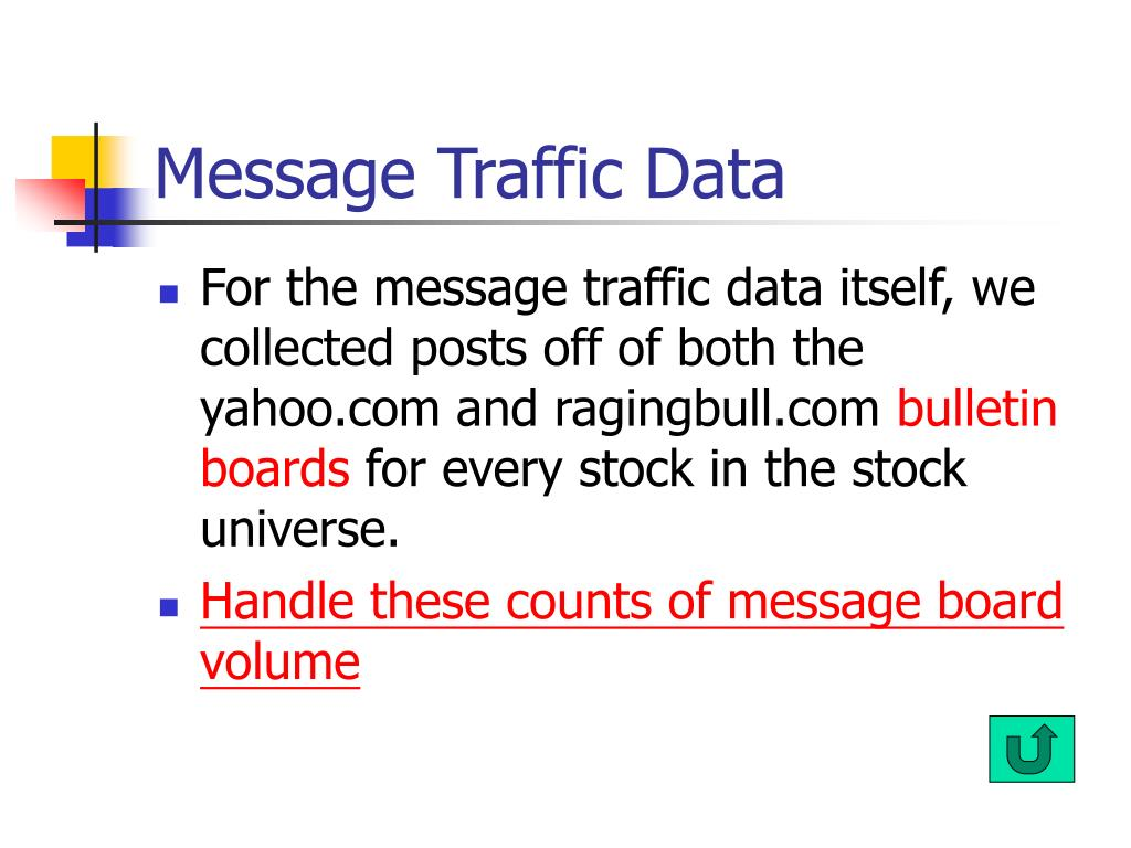Message Traffic Data