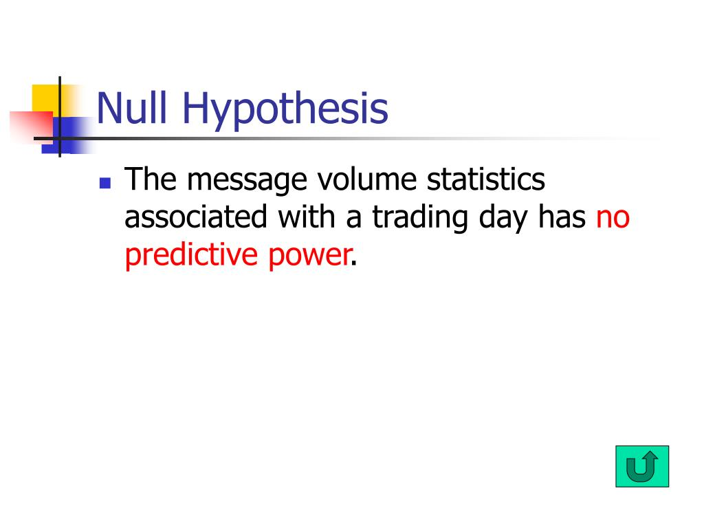 Null Hypothesis