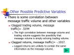 other possible predictive variables