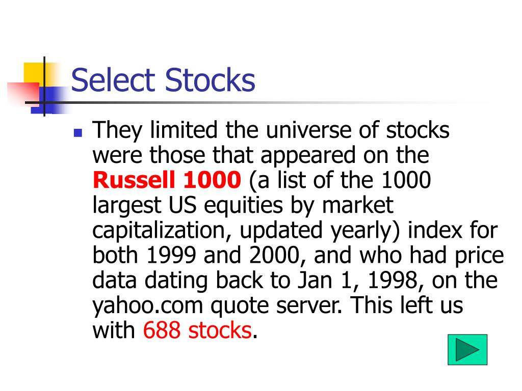 Select Stocks