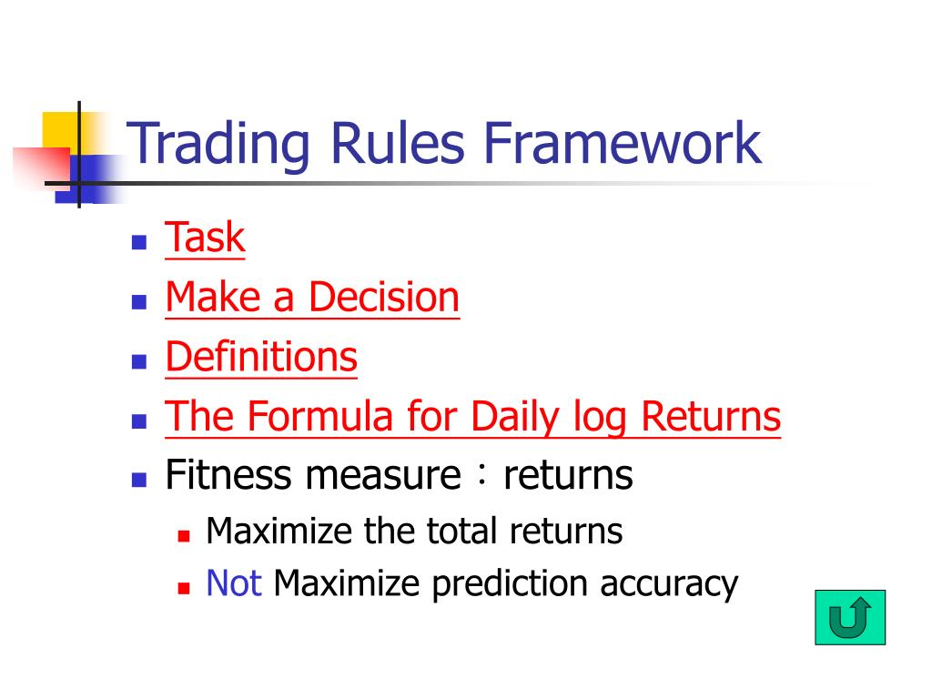 Trading Rules Framework