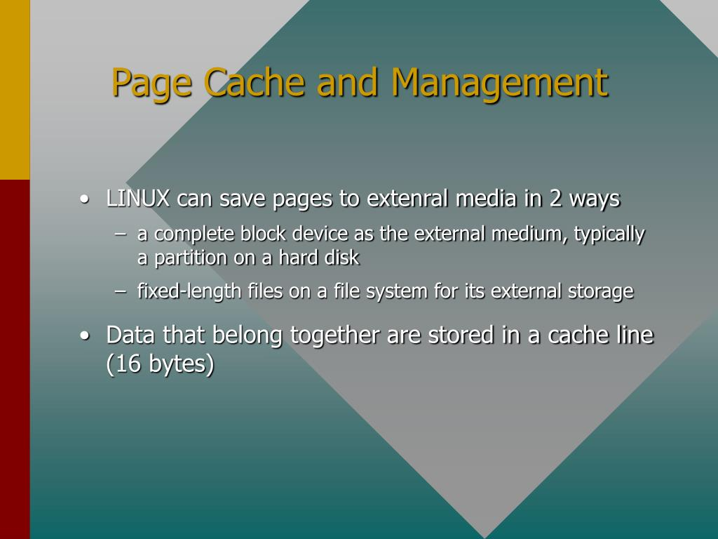 Page Cache and Management