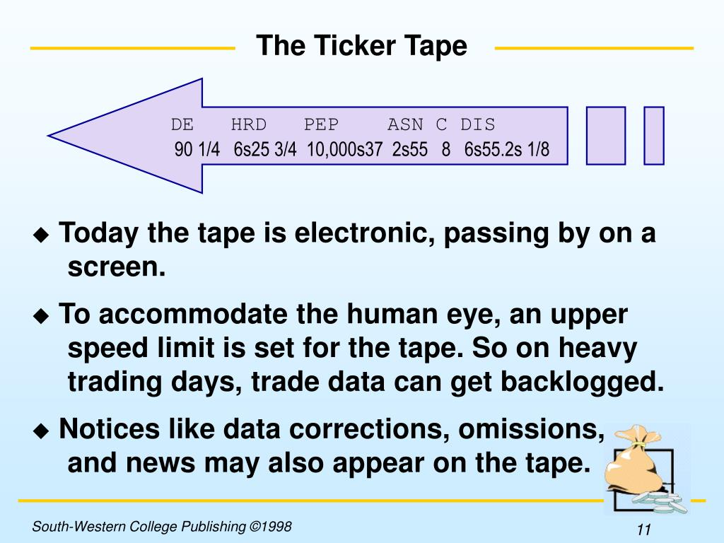 The Ticker Tape