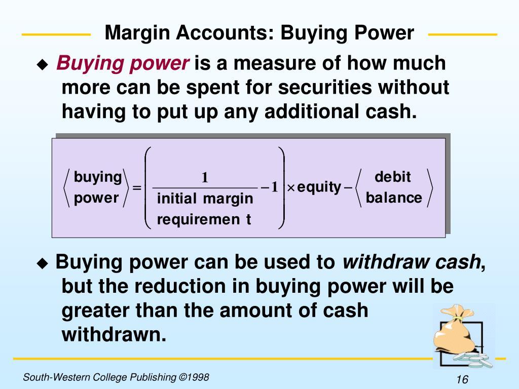 Margin Accounts: Buying Power