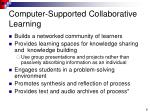 computer supported collaborative learning7