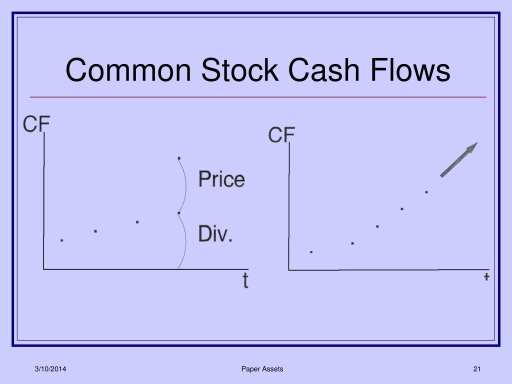 Common Stock Cash Flows