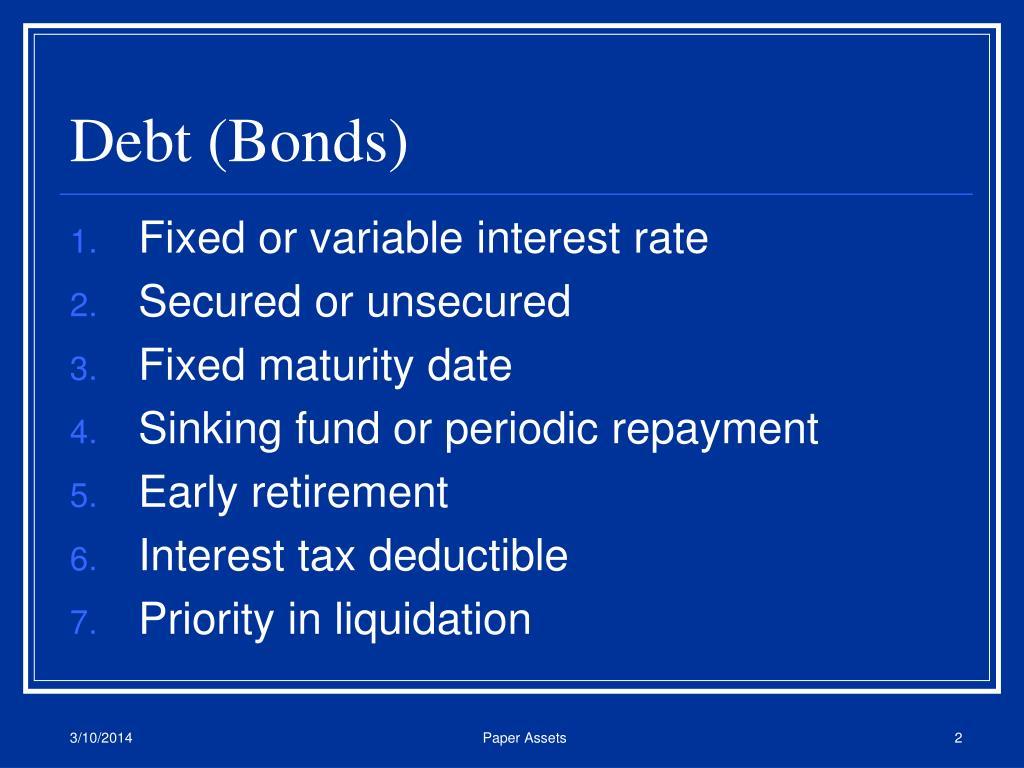 Debt (Bonds)