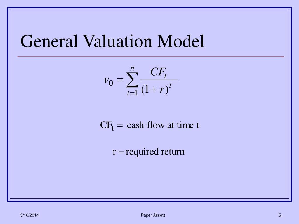 General Valuation Model