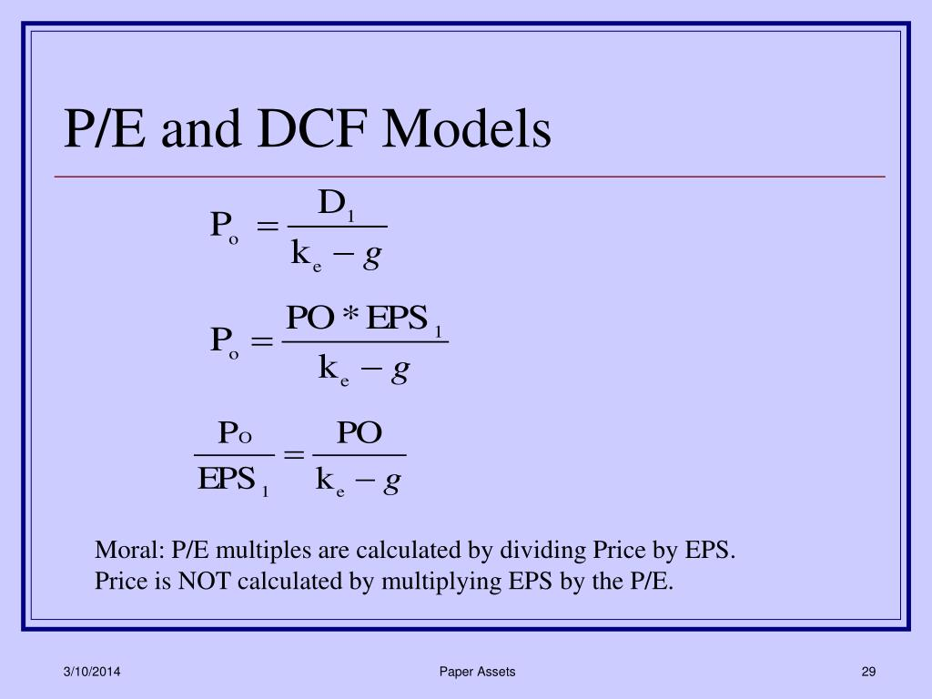 P/E and DCF Models