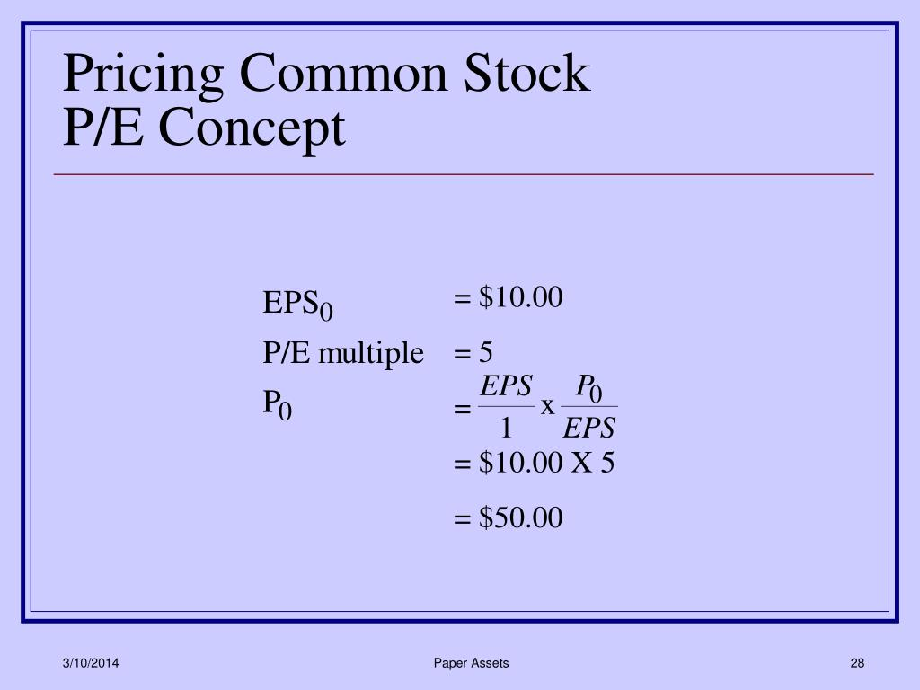 Pricing Common Stock