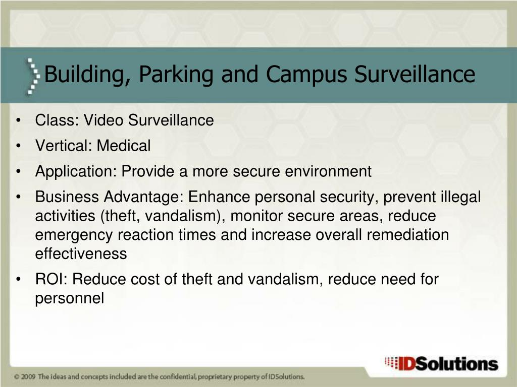 Class: Video Surveillance