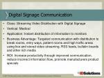 digital signage communication