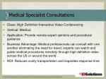 medical specialist consultations