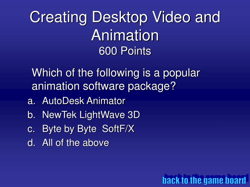 Creating Desktop Video and Animation