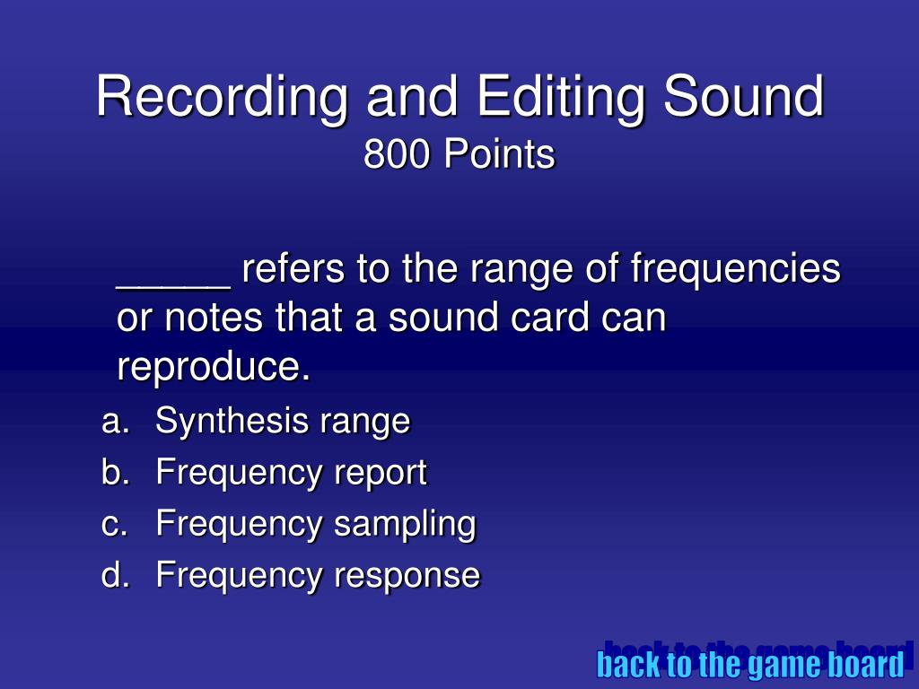 Recording and Editing Sound