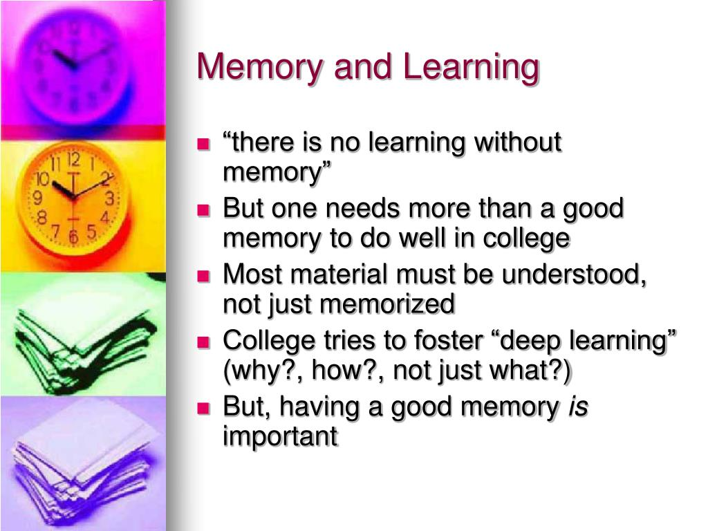 Memory and Learning