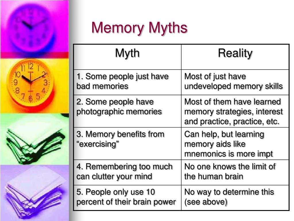 Memory Myths