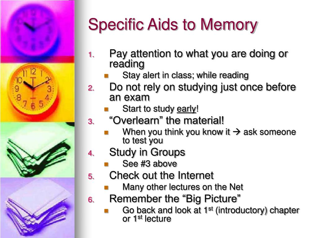 Specific Aids to Memory