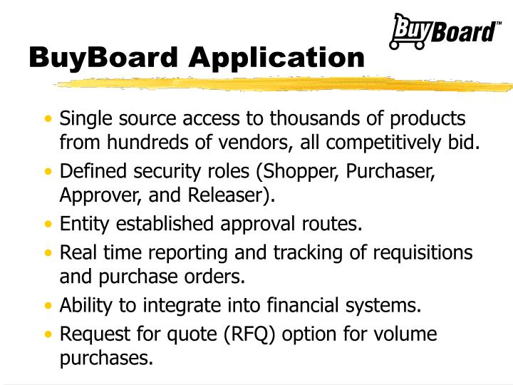 BuyBoard Application