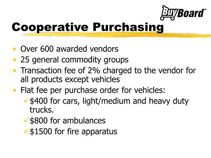 Cooperative Purchasing