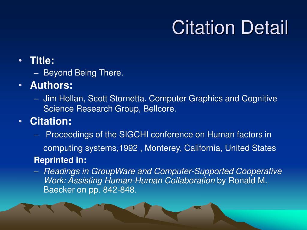 Citation Detail