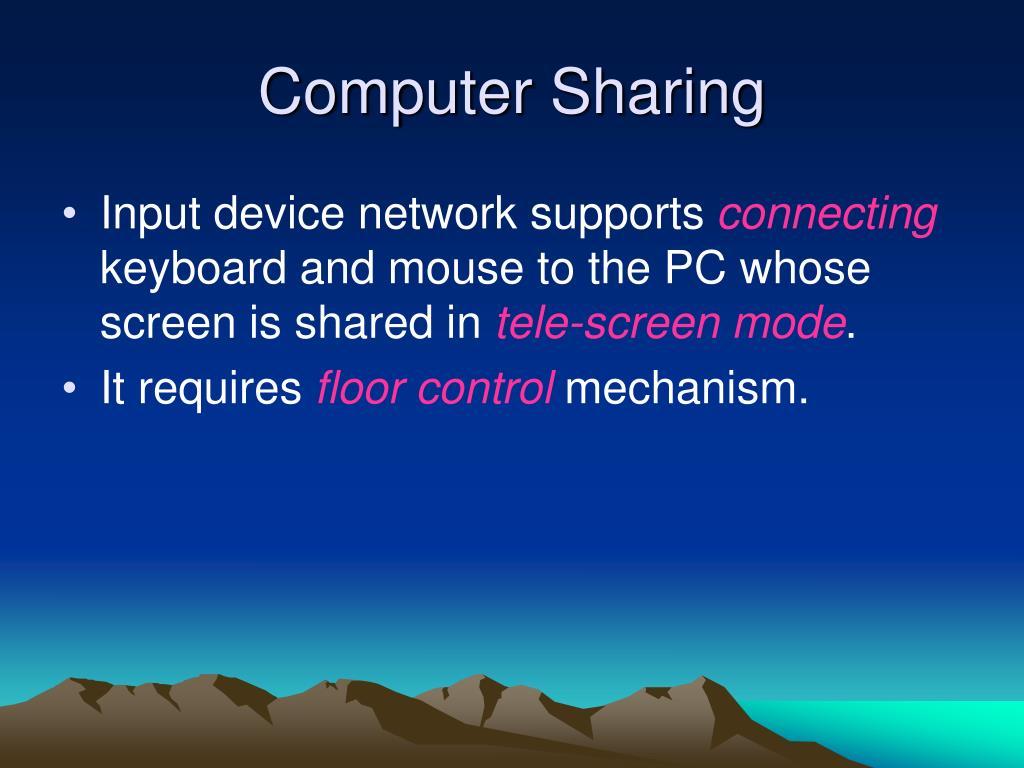 Computer Sharing