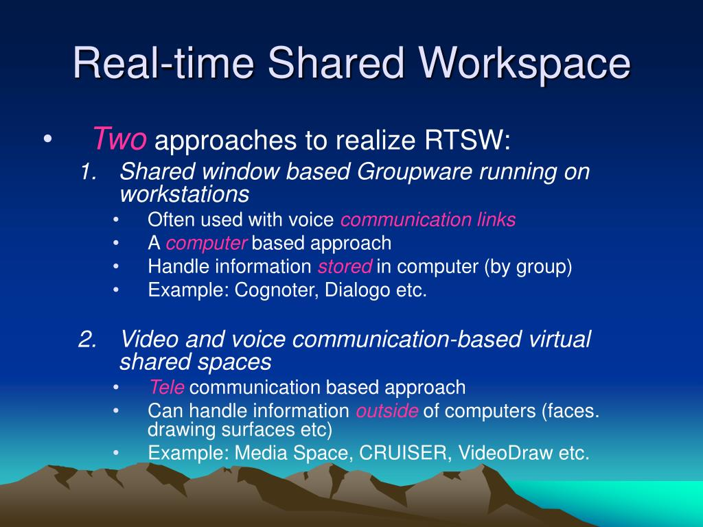 Real-time Shared Workspace