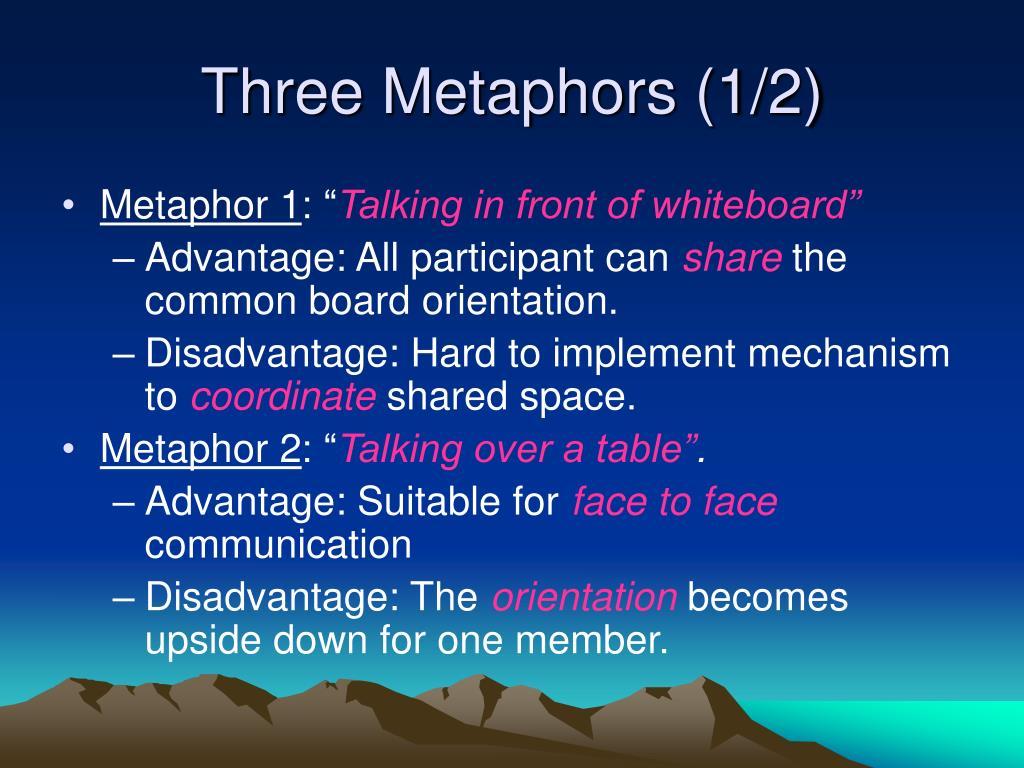 Three Metaphors (1/2)
