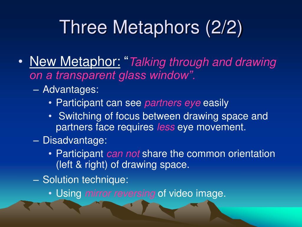Three Metaphors (2/2)