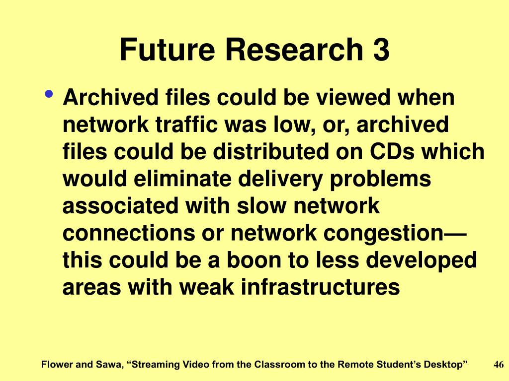 Future Research 3