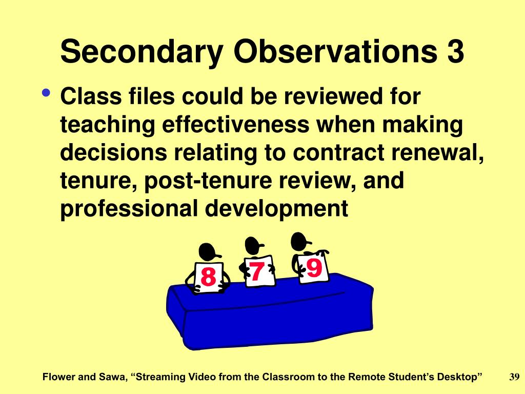 Secondary Observations 3