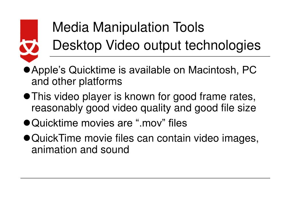 Desktop Video output technologies
