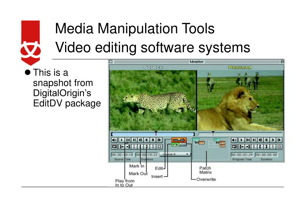Video editing software systems
