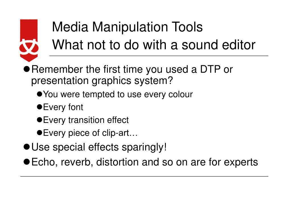 What not to do with a sound editor
