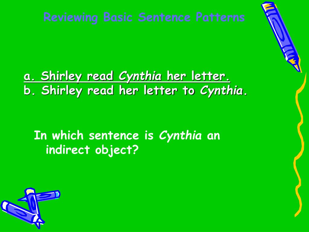 Reviewing Basic Sentence Patterns